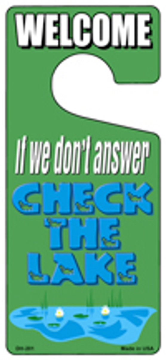 Check The Lake Novelty Metal Door Hanger DH-201