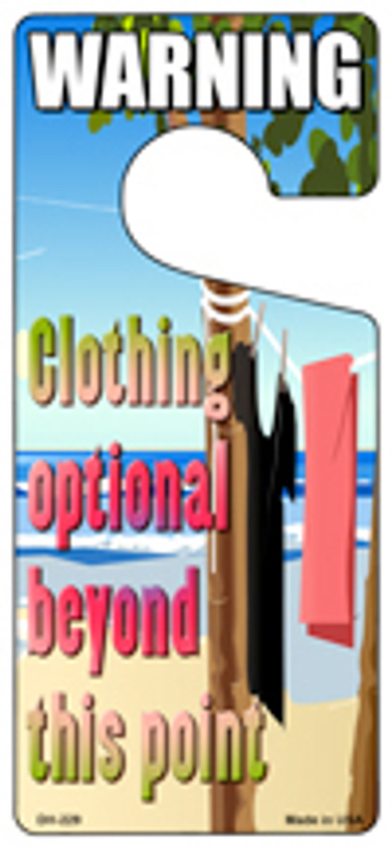 Clothing Optional Novelty Metal Door Hanger DH-229