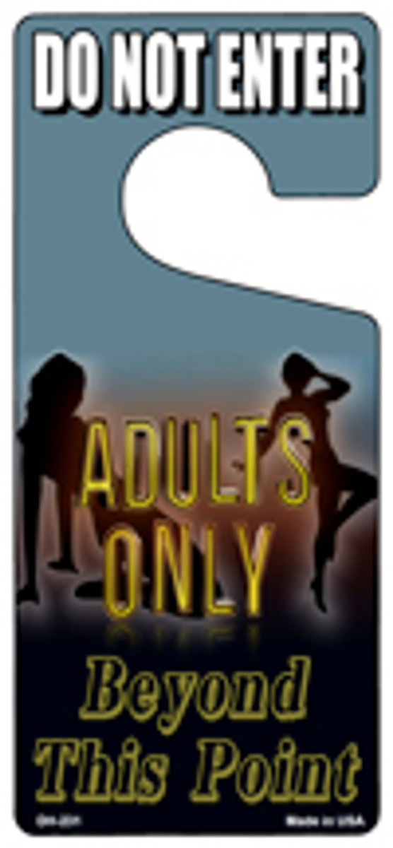 Adults Only Novelty Metal Door Hanger DH-231