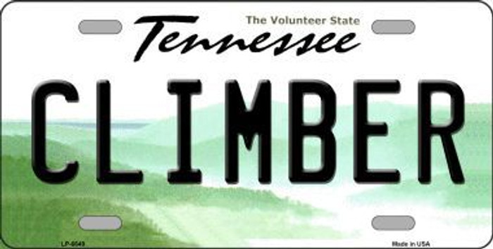 Climber Tennessee Novelty Metal License Plate