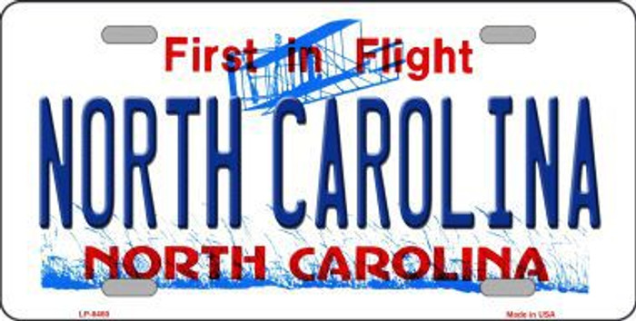 North Carolina Novelty Metal License Plate