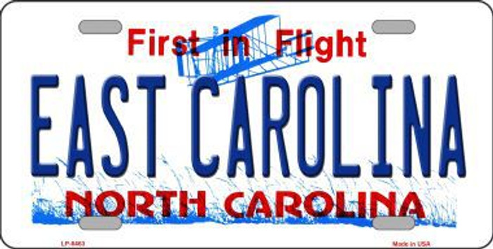 East Carolina North Carolina Novelty Metal License Plate