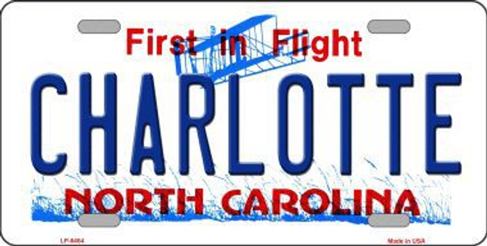 Charlotte North Carolina Novelty Metal License Plate