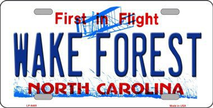 Wake Forest North Carolina Novelty Metal License Plate