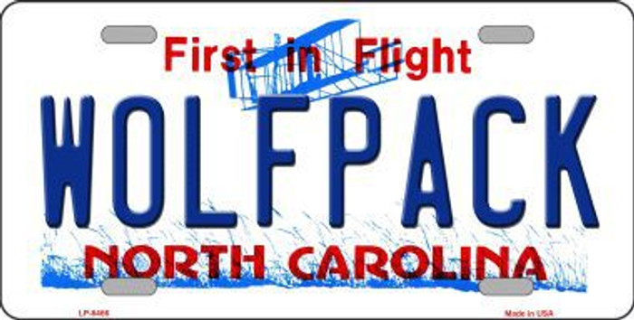 Wolfpack North Carolina Novelty Metal License Plate