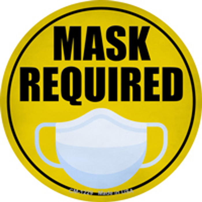 Mask Required Novelty Mini Metal Circle Magnet CM-1229