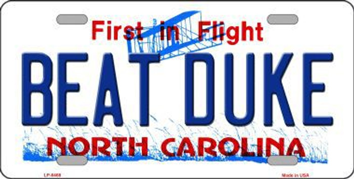 Beat Duke North Carolina Novelty Metal License Plate