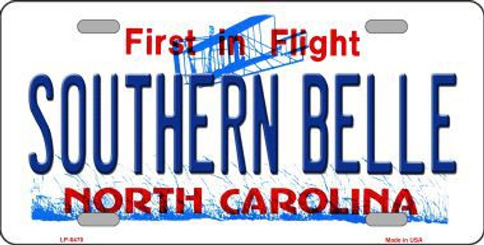 Southern Belle North Carolina Novelty Metal License Plate