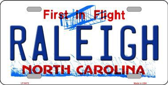 Raleigh North Carolina Novelty Metal License Plate