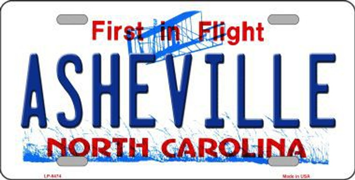Asheville North Carolina Novelty Metal License Plate