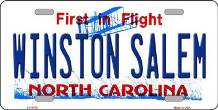 Winston Salem North Carolina Novelty Metal License Plate