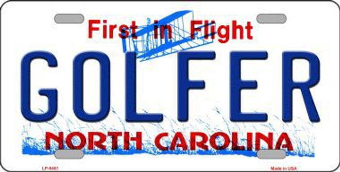 Golfer North Carolina Novelty Metal License Plate LP-6481