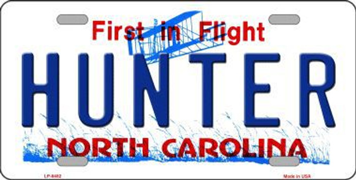 Hunter North Carolina Novelty Metal License Plate