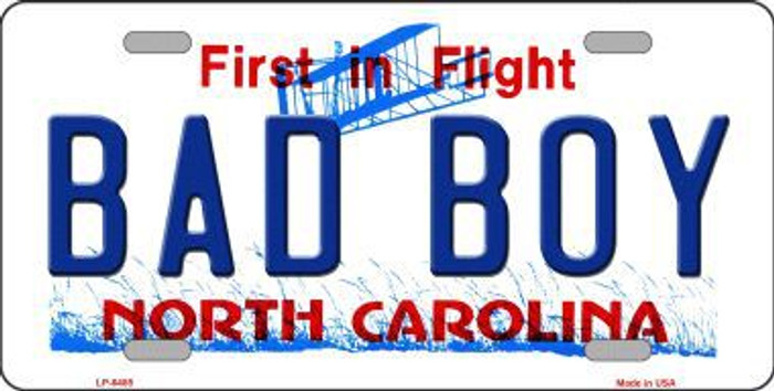 Bad Boy North Carolina Novelty Metal License Plate