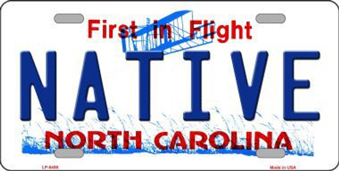 Native North Carolina Novelty Metal License Plate