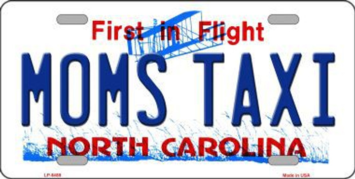 Moms Taxi North Carolina Novelty Metal License Plate