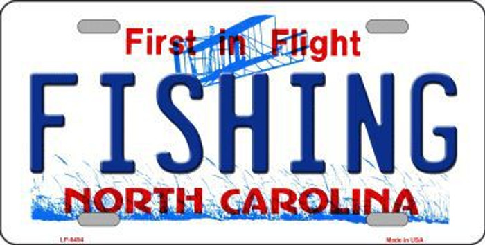 Fishing North Carolina Novelty Metal License Plate