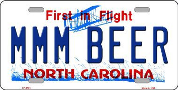 MMM Beer North Carolina Novelty Metal License Plate
