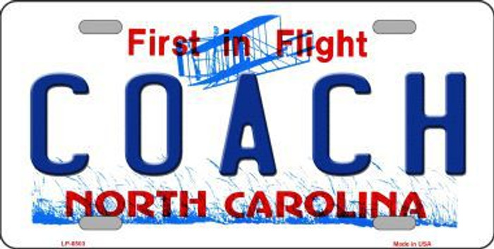 Coach North Carolina Novelty Metal License Plate