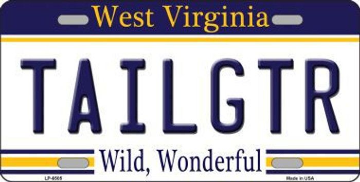 Tailgtr West Virginia Novelty Metal License Plate