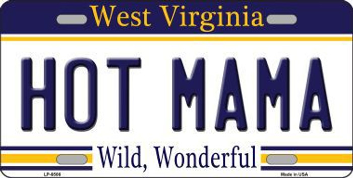 Hot Mama West Virginia Novelty Metal License Plate