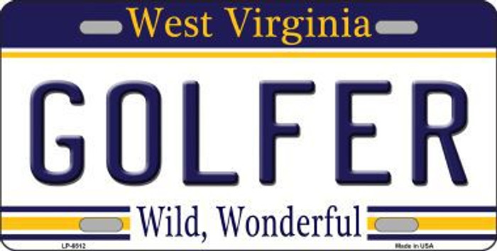 Golfer West Virginia Novelty Metal License Plate