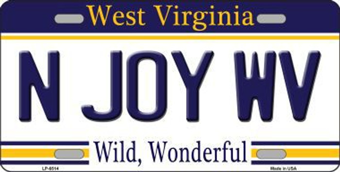 N Joy West Virginia Novelty Metal License Plate