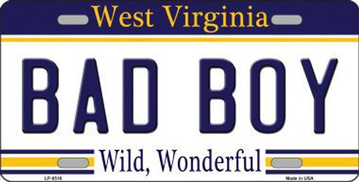Bad Boy West Virginia Novelty Metal License Plate