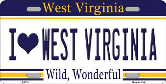 I Love West Virginia Novelty Metal License Plate