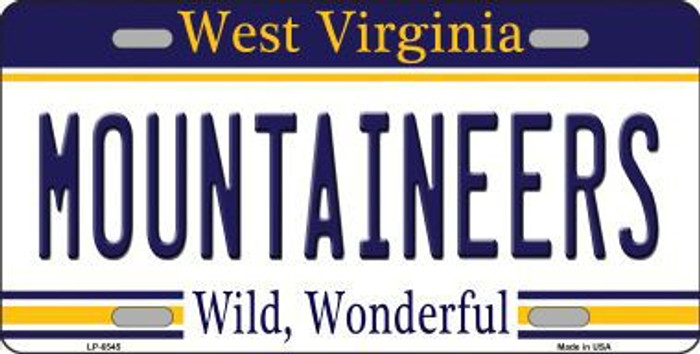 Mountaineers West Virginia Novelty Metal License Plate