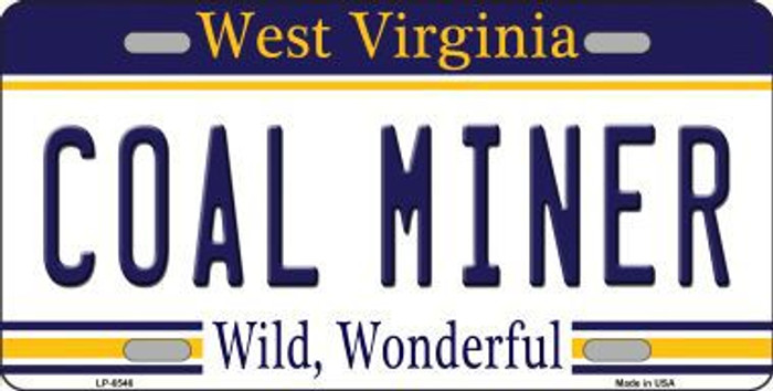 Coal Miner West Virginia Novelty Metal License Plate