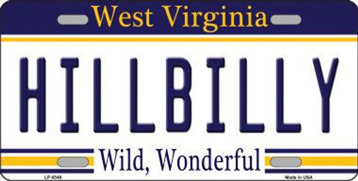 Hillbilly West Virginia Novelty Metal License Plate