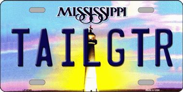 Tailgtr Mississippi Novelty Metal License Plate