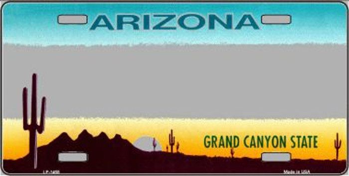 Arizona Novelty State Background Metal Novelty License Plate