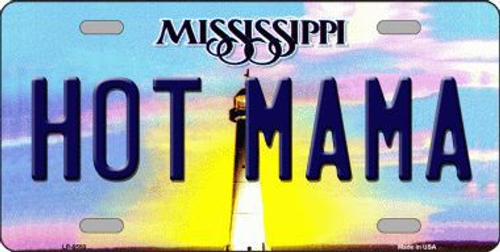Hot Mama Mississippi Novelty Metal License Plate