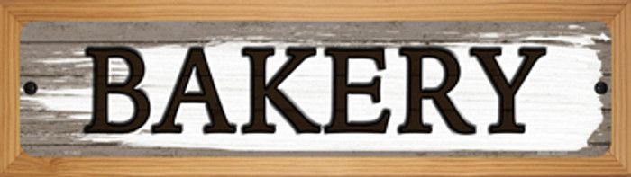 Bakery Novelty Wood Mounted Small Metal Street Sign WB-K-1463