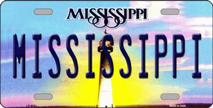 Mississippi Novelty Metal License Plate