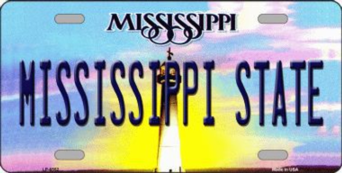 Mississippi State Novelty Metal License Plate