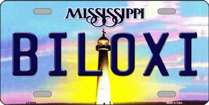 Biloxi Mississippi Novelty Metal License Plate