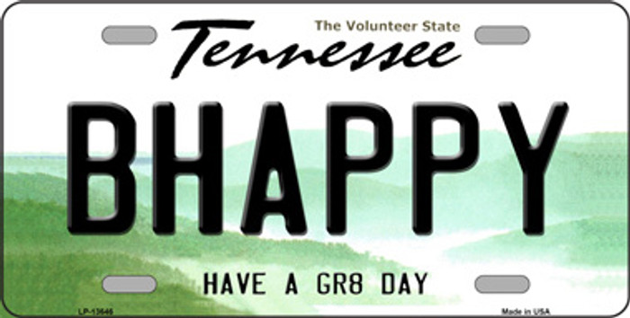 Be Happy Novelty Metal License Plate Tag LP-13646