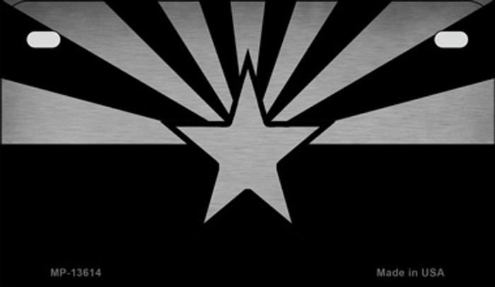 Arizona Flag Black  Novelty Metal Motorcycle Plate MP-13614