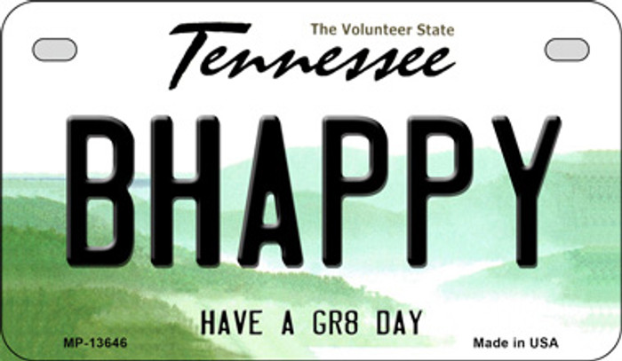 Be Happy Novelty Metal Motorcycle Plate MP-13646