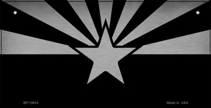 Arizona Flag Black  Novelty Metal Bicycle Plate BP-13614