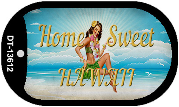 Home Sweet Hawaii Novelty Metal Dog Tag Necklace DT-13612