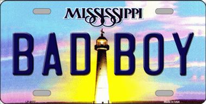 Bad Boy Mississippi Novelty Metal License Plate