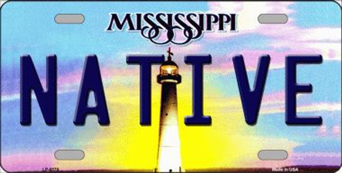 Native Mississippi Novelty Metal License Plate