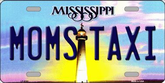 Moms Taxi Mississippi Novelty Metal License Plate