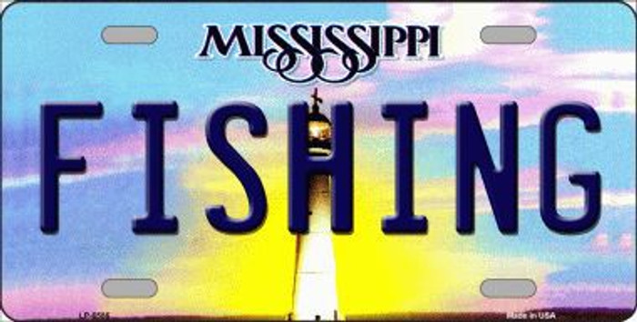 Fishing Mississippi Novelty Metal License Plate