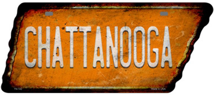 Chattanooga Novelty Rusty Effect Metal Tennessee License Plate Tag TN-142