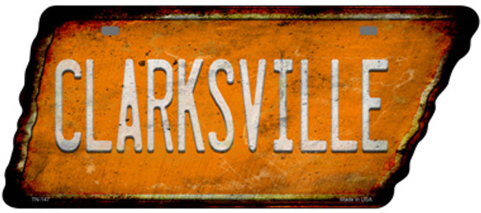 Clarksville Novelty Rusty Effect Metal Tennessee License Plate Tag TN-147